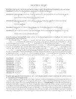 Tiếng anh - Đề thi thử đại học - Practice test  1,2,3
