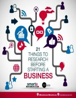 21 things to research before starting a business
