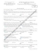 Lời giải chi tiết đề thi thử môn lí mã đề 235