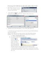 Chương trình thiết kế trên phần mềm pro