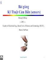 Bài giảngKỹ Thuật Cảm Biến (sensors) - Chương 5: Cảm biến tĩnh điện (2b) và một số cảm biến tiệm cận