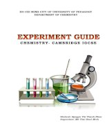 Experiment guide chemistry cambridge igcse
