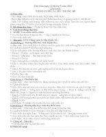GIÁO ÁN 4 TUẦN 34 CHUẨN KIẾN THỨC KỸ NĂNG  KỸ NĂNG SỐNG
