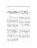BƯỚC ĐẦU TÌM HIỂU CẤU TRÚC THỂ LOẠI VÀ ĐẶC ĐIỂM NGÔN NGỮ CỦA CÁC BÀI TẠP CHÍ CHUYÊN NGÀNH KINH TẾ TIẾNG ANH