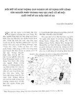 ĐÔI NÉT VỀ HOẠT ĐỘNG QUY HOẠCH VÀ SỬ DỤNG ĐÂT CÔNG CỦA NGƯỜI PHÁP TRONG KHU VỰC PHỐ CỔ HÀ NỘI