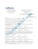 Đề thi thử 2016 môn hóa trường thpt việt yên II lần 1
