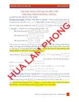 Các bài toán liên quan đến viết phương trình đường thẳng