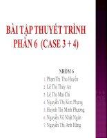 CASE 6 bài tập kế toán công   thầy huy