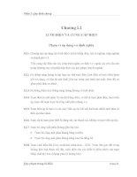 LƯỚI ĐIỆN VÀ CUNG CẤP ĐIỆN
