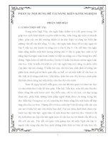 sáng kiến kinh nghiệm một vài biện pháp rèn luyện kĩ năng làm văn nghị luận về một đoạn thơ, một bài thơ cho học sinh lớp 9