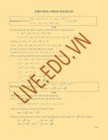 10 phương pháp hàm số giải hệ phương trình