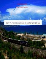 Thất bại thị trường độc quyền ngành đường sắt việt nam