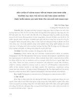 RÈN LUYỆN kỹ NĂNG GIAO TIẾP sư PHẠM CHO SINH VIÊN TRƯỜNG đại học THỦ đô hà nội THEO ĐỊNH HƯỚNG PHÁT TRIỂN NĂNG lực đáp ỨNG yêu cầu đổi mới GIÁO dục