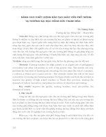 NÂNG CAO CHẤT LƯỢNG đào tạo GIÁO VIÊN PHỔ THÔNG tại TRƯỜNG đại học HỒNG đức THANH hóa
