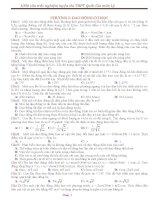 1000 câu trắc nghiệm luyện thi THPT Quốc Gia môn Lý