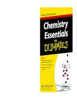 Chemistry Essentials For Dummies  John T. Moore