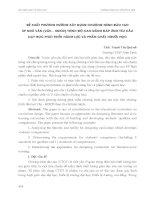ĐỀ XUẤT PHƯƠNG HƯỚNG xây DỰNG CHƯƠNG TRÌNH đào tạo SP NGỮ văn (văn – GDCD) TRÌNH độ CAO ĐẲNG đáp ỨNG yêu cầu dạy học PHÁT TRIỂN NĂNG lực và PHẨM CHẤT NGƯỜI học
