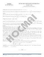 Đề thi thử thptqg 2016 môn toán hocmai đề số 5