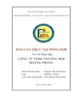 Thực tập tổng hợp  CTY TNHH TM Hoàng Phong