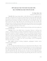 TIẾP cận dạy học TÍCH hợp của SINH VIÊN địa lí TRƯỜNG đại học THỦ đô hà nội