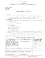 Giáo án Tin 6 soạn theo chủ đề