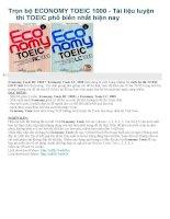 Trọn bộ ECONOMY TOEIC 1000  Tài liệu luyện thi TOEIC phổ biến nhất hiện nay