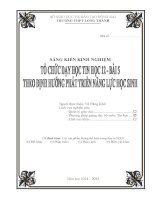 skkn tổ CHỨC dạy học TIN học 12 – bài 5 THEO ĐỊNH HƯỚNG PHÁT TRIỂN NĂNG lực học SINH