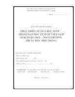 skkn PHÁT TRIỂN tư DUY học SINH TRONG dạy học LỊCH sử VIỆT NAM GIAI đoạn 1919 – 1930 ở TRƯỜNG TRUNG học PHỔ THÔNG