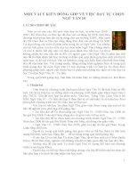 skkn một vài ý KIẾN ĐÓNG góp về VIỆC dạy tự CHỌN NGỮ văn 10