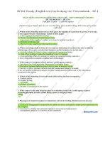 Đề thi moody (english test) tuyển dụng vào vietcombank – đề 4