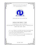 Báo cáo thực tập tốt nghiệp quản trị văn phòng tại Công ty cổ phần quảng cáo TM hà nội