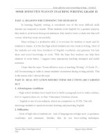 skkn SOME EFFECTIVE WAYS IN TEACHING WRITING GRADE 12