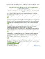 Đề thi moody (english test) tuyển dụng vào vietcombank – đề 1