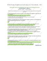 Đề thi moody (english test) tuyển dụng vào vietcombank – đề 3