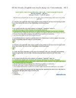 Đề thi moody (english test) tuyển dụng vào vietcombank – đề 2