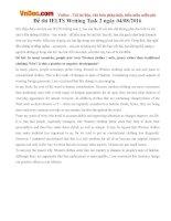 Đề thi IELTS Writing Task 2 ngày 04082016