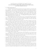 skkn sử DỤNG bài tập TRONG dạy học các bài ôn tập, sơ kết, TỔNG kết LỊCH sử 12 TRƯỜNG THPT