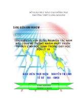 skkn tìm HIỂU và vận DỤNG NGUYÊN tắc đảm bảo TÍNH hệ THỐNG NHẰM PHÁT TRIỂN tư DUY CHO học SINH TRONG dạy học địa lý 10