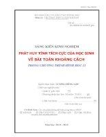 skkn PHÁT HUY TÍNH TÍCH cực của học SINH về bài TOÁN KHOẢNG CÁCH TRONG CHƯƠNG TRÌNH HÌNH học 11