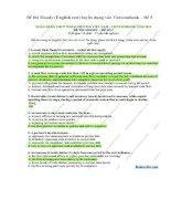 Đề thi moody (english test) tuyển dụng vào vietcombank – đề 5