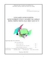 skkn KINH NGHIỆM NÂNG CAO HIỆU QUẢ HOẠT ĐỘNG NHÓM TRONG dạy học LỊCH sử 8