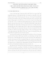 skkn GIÁO dục kĩ NĂNG SỐNG CHO học SINH QUA một số PHƯƠNG PHÁP dạy học TÍCH cực TRONG CHƯƠNG TRÌNH NGỮ văn lớp 10 THPT