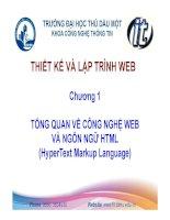 Tổng quan về công nghệ web và ngôn ngữ HTML
