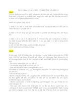 Môn luật hình sự ôn tập câu hỏi tình huống có đáp án môn luật hình sự