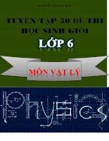 Tuyển tập 50 đề thi HSG vật lý lớp 6 có đáp án chi tiết