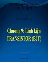 Chương 9: Linh kiện TRANSISTOR (BJT)