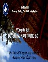Địa lý và Tài nguyên Du lịch Việt Nam: Vùng Du lịch Duyên hải Nam Trung Bộ