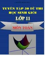 Tuyển tập 50 đề thi HSG toán lớp 11 có đáp án chi tiết