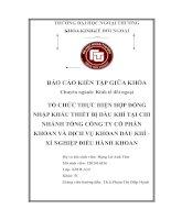 TỔ CHỨC THỰC HIỆN hợp ĐỒNG NHẬP KHẨU THIẾT bị dầu KHÍ tại CHI NHÁNH TỔNG CÔNG TY cổ PHẦN KHOAN và DỊCH vụ KHOAN dầu KHÍ   xí NGHIỆP điều HÀNH KHOAN