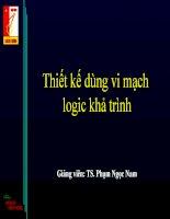 Thiết kế dùng vi mạch logic khả trình (Ngôn ngữ VHDL)